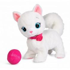 Pisica de plus interactiva Bianca 33 cm