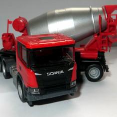 Herpa noua Scania CR Euro 6 betoniera punte dubla 1:87