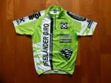 Tricou ciclism Ellegi Made in Italy; marime S: 47 cm bust, 57 cm lungime pe fata