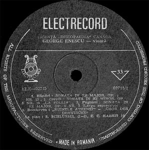 George Enescu - Historical Recordings (Vinyl)