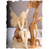 Sfesnic Art Nouveau cu un elf din alabastru AN10281AA, Altul