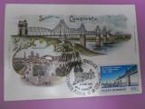 Podul de la Cernavoda -vedere necirculata timbrat 1995, Fotografie
