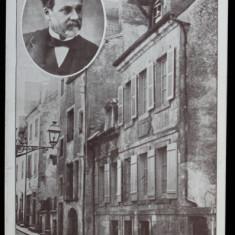 DOLE - LE MAISON DE PASTEUR , TICKET D 'ENTREE DE LA MAISON NATALE , TIP CARTE POSTALA , MONOCROMA, NECIRCULATA , DATATA 1927