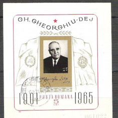 Romania 1966 Communism famous people , imperf. sheet, used Z.003