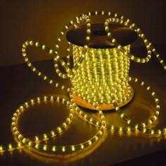 Furtun decorativ cu LED galben, lungime 2 m