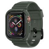 """Cumpara ieftin Husa Antisoc Premium Spigen Rugged Armor """"PRO"""" pentru Apple Watch Seriile 6/5/4/SE (44mm), Protectie la Standarde Militare, Verde"""