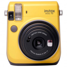 Camera foto instant Fujifilm Instax mini 70 galben