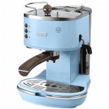 Espressor manual De'Longhi Vintage ECOV311.AZ, 1100W, 15 bar, 1.4 l, Albastru, Delonghi