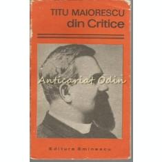 Din Critice - Titu Maiorescu