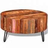 VidaXL Măsuță de cafea rotundă, lemn masiv de sheesham