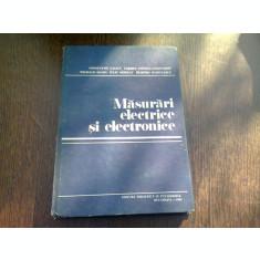 MASURARI ELECTRICE SI ELECTRONICE-CONSTANTIN ILIESCU SI ALTII