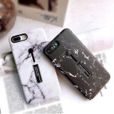 Husa de telefon iPhone alb-negru model tip marmura