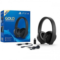 Casti gaming SONY Gold Wireless Stereo, negru PS4/PC/PSV/Switch