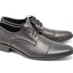 Pantofi barbati eleganti din piele naturala box - MARCONSIRET