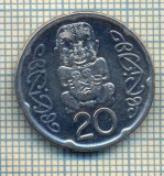 12089  MONEDA -NOUA ZEELANDA-NEW ZEALAND- 20 CENTS-ANUL 2006-STAREA CARE SE VEDE