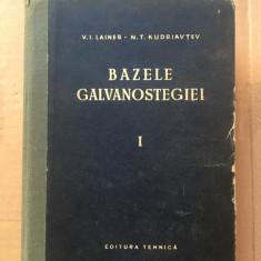 Bazele galvanostegiei/Lainer/zincarea, cadmierea s.a./ 1956