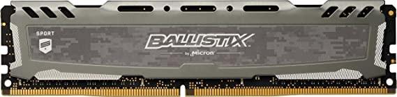 Memorie PC Crucial Ballistix Sport 8GB DDR4 LT 2666MHz CL16 BLS8G4D26BFSBK 1.2V