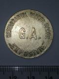 Cumpara ieftin JETON ANII 1900 - 100 LEI -RESTAURANTUL PARCUL CAROL EXPOSITIE G.A.