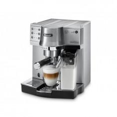 Espressor manual DeLonghi EC 850M, 1450 W, 15 bar, 1 l, carafa lapte, display, argintiu
