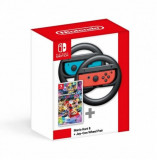Mario Kart 8 Deluxe + Joy Con Wheel Pair
