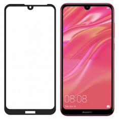 Folie Sticla Wozinsky Super Tough pentru Huawei Y6 2019 5D Full Screen Full Glue Negru