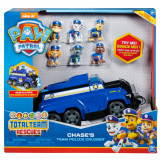 Set Masinuta cu figurine Paw Patrol, Chase's Team Police Cruiser