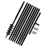 Cumpara ieftin Burghiu manual găuri în pământ 100 mm cu tub prelungitor 9 m