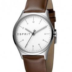 Esprit, Ceas quartz cu o curea de piele Essential, Maro