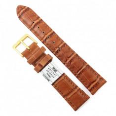 Curea Ceas 12mm, 18mm - Piele Naturala Maro Imprimeu NAGATA