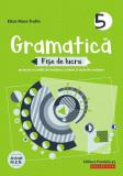 Gramatica. Fise de lucru (pe lectii si unitati de invatare cu itemi si teste de evaluare). Clasa a V-a