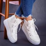 Sneakers dama cu platforma albi Adisri -rl