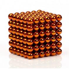 Neocube 216 bile magnetice 5mm, joc puzzle, culoare portocalie