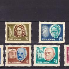 ROMANIA 1967 LP 653   ANIVERSARI  SERIE  MNH