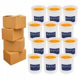 Cumpara ieftin 4 Baxuri 12 Lumanari Parfumate Orange, cu 2 fitiluri din lemn