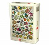 Cumpara ieftin Puzzle Pattern Elephants, 1000 piese