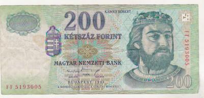 bnk bn Ungaria 200 forint 1998 circulata foto
