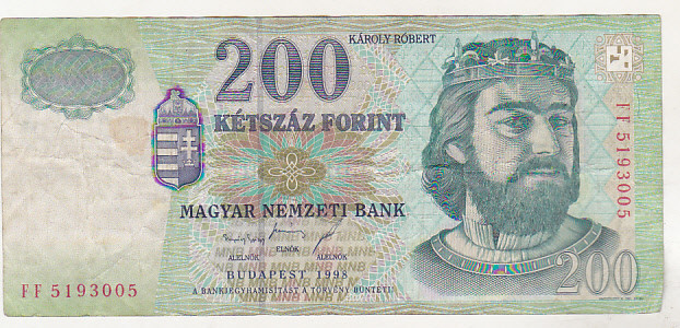 bnk bn Ungaria 200 forint 1998 circulata