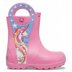 Cumpara ieftin Cizme Fete de ploaie Crocs Crocs Fun Lab Unicorn Patch Rain Boot