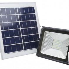 Proiector LED PNI GreenHouse WS55, 50W, cu panou solar si acumulator, telecomanda, senzor crepuscular