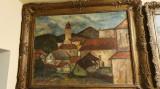 Veche pictura de dimensiuni mari, ulei pe panza semnata WEITH LASZLO