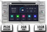 Navigatie Ford Focus Fiesta C Max S Max Kuga Tranzit Android 9 Quadcore PX30 2GB RAM + 16GB ROM cu DVD 7 Inch AD BGWFORDDD7P3 S