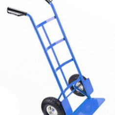 Carucior Metalic pentru Transport Marfa, 2 Roti, Capacitate 250kg, Culoare Albastru