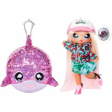 Na Na Na Surprise 2 in 1, Sparkle S1 - Papusa si accesoriu fashion, Krysta Splash, 573760