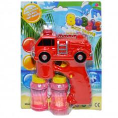 Jucarie baloane de sapun + masina pompieri, baterii