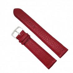 Curea de ceas din piele naturala Rosie - 20mm