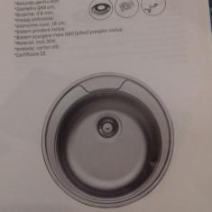 Chiuveta rotunda pentru blat anticalcar
