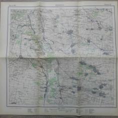 Segarcea, Dolj/ harta Serviciul Geografic al Armatei 1939