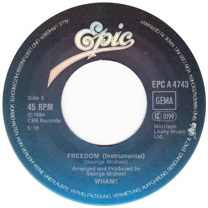 Wham! - Freedom (1984, Epic) Disc vinil single 7