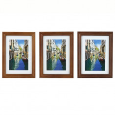 Rama foto River Boats, lemn, pentru birou si perete, format foto 13X18 cm