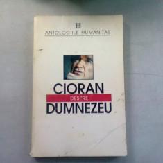 DESPRE DUMNEZEU - CIORAN